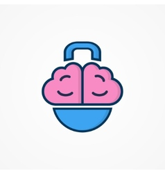 Logo with a combination of brain and weight vector