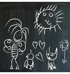 Message on a blackboard vector