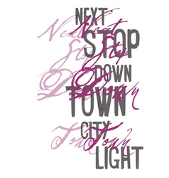 Type fonts-type print fonts city pink purple vector