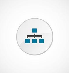 Hierarchy icon 2 colored vector