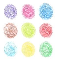 Color pencil round spots vector