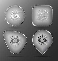 Eye glass buttons vector