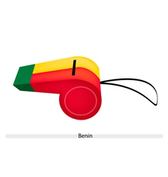 Green yellow and red colors on benin whistle vector