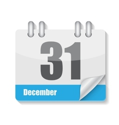 Flat calendar icon for applications vector