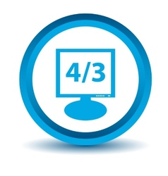 Blue monitor icon vector