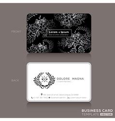 Floral vintage elegant business cards design vector