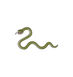 Serpent coiling side isolated cartoon vector