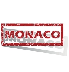 Monaco outlined stamp vector