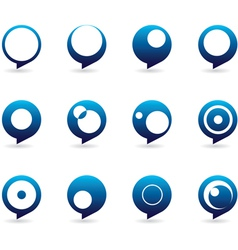 Blue speech bubble icons vector