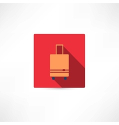 Brown luggage vector