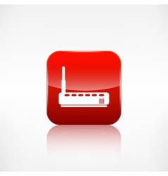 Wi fi router web icon application button vector