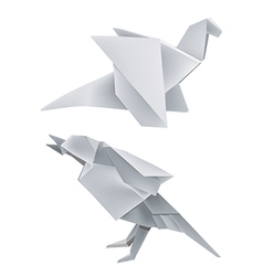 Origami dragon bird vector