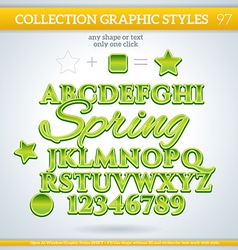 Spring graphic styles for design use for decor vector
