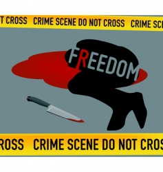 Crime scene freedom is dead vector