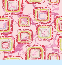 Abstract pattern with squares on a pink background vector