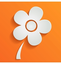 Abstract summer background with white flower vector
