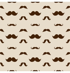 Hipster mustaches seamless pattern vector