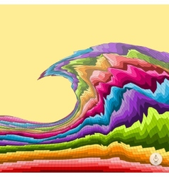 Abstract colorful background mosaic vector