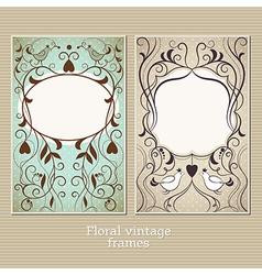 Elegance vintage frame vector