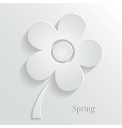 Abstract spring background with white flower vector