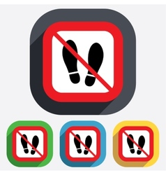 Do not stay imprint shoes sign icon shoe print vector