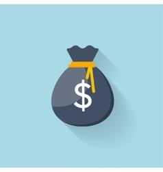 Flat web icon money bag vector