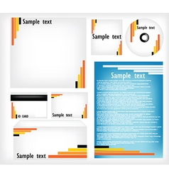 Office stationery set vector