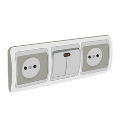 Block of sockets and the switch vector