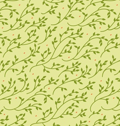 Green spring seamless pattern vector