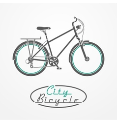 Bicycle emblem vector