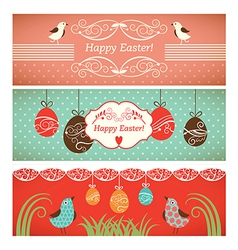 Set of easter banners vector