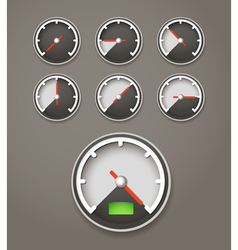 Speed limit web icons collection vector