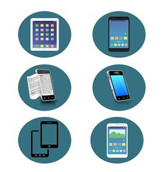 Set of 6 smartphone icon vector