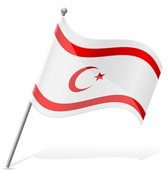 Flag turkish republic of northern cyprus vector