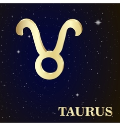 Sign of the zodiac taurus is the starry sky vector