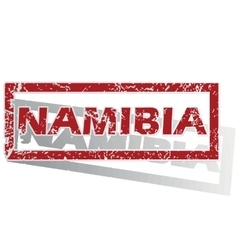 Namibia outlined stamp vector
