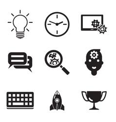 Business seo social media marketing silhouette vector