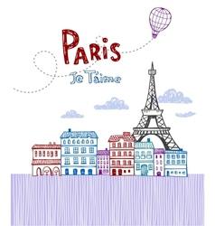 Paris post card vector