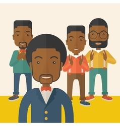 Handsome black businessmen vector
