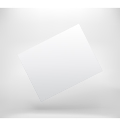 White blank space with shadow vector