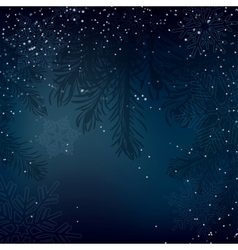 Night christmas background with whirling snow and vector