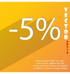 5 percent discount icon symbol flat modern web vector