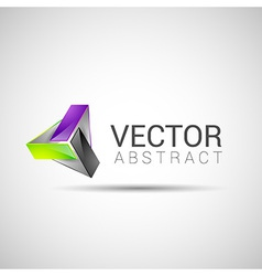 Abstract element shape design icon vector