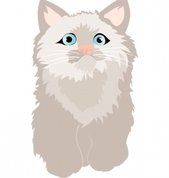 Small feathery kitty vector