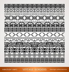 Vintage style ornamental borders vector