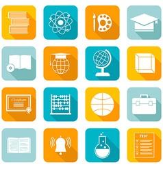 School subject icons vector