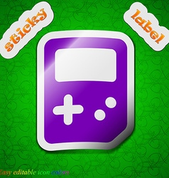 Tetris icon sign symbol chic colored sticky label vector