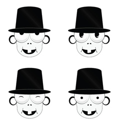 Funny and cute people head vector