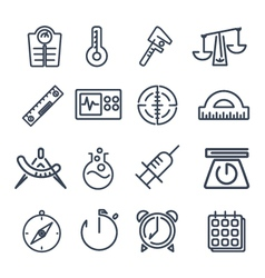Measurement tools icon pack vector