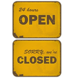 Sign open closed vector